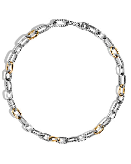 John Hardy Men S Classic Chain Sterling Silver Amp Gold Link