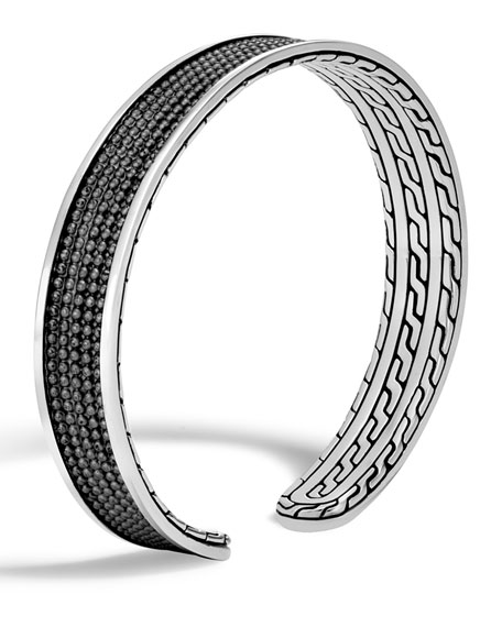 Men's Classic Chain Jawan Cuff Bracelet, Black
