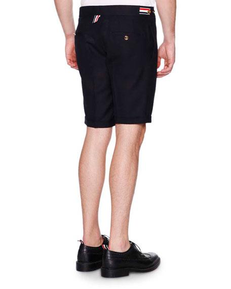 Side-Tab Shorts, Navy
