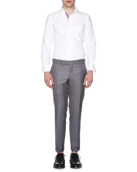 Slim-Leg Flannel Trousers, Medium Gray