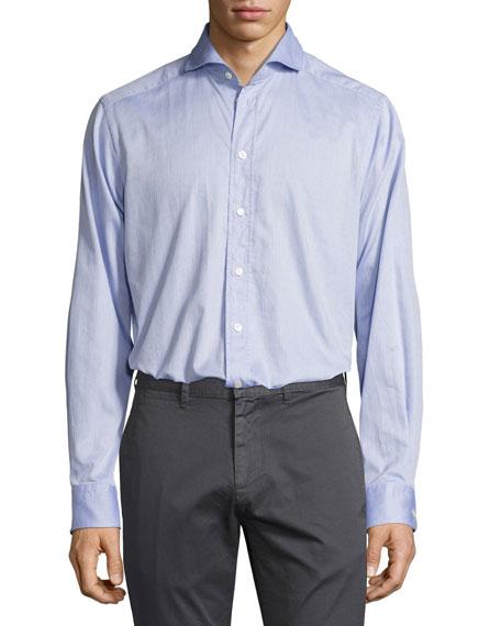 Dotted Sport Shirt, Light Blue