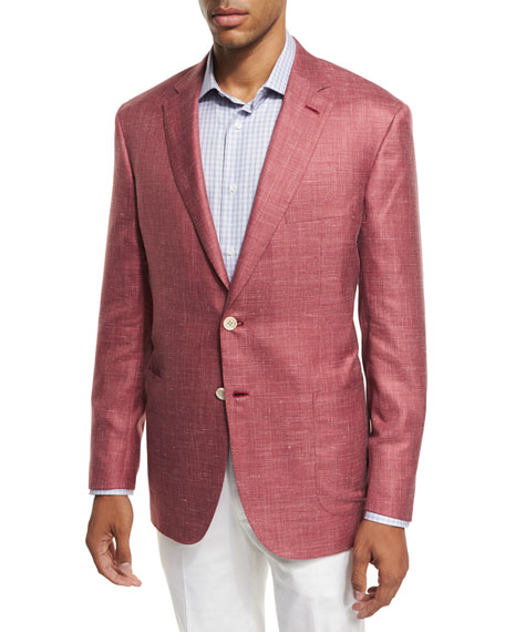 Brioni Heather Silk-Cashmere-Linen Blazer