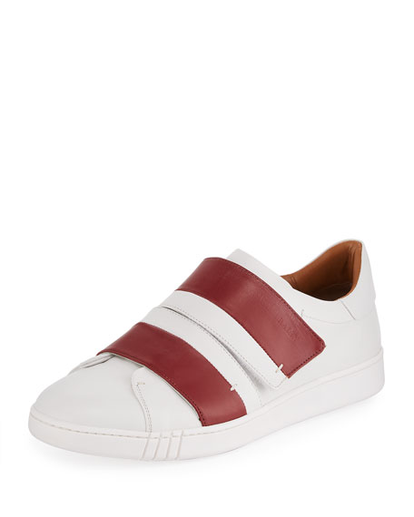 Bally Willet Leather Grip-Strap Sneaker