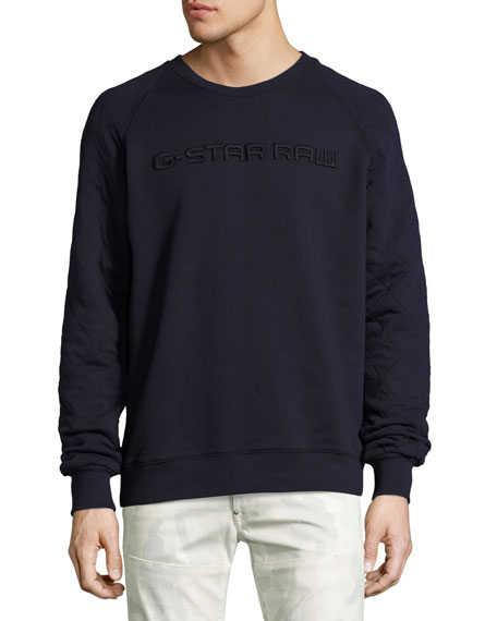 G-Star Tarev Embossed Logo Sweatshirt, Blue