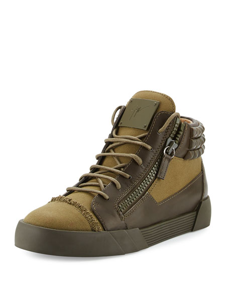 Giuseppe Zanotti Men's Foxy London Canvas & Leather