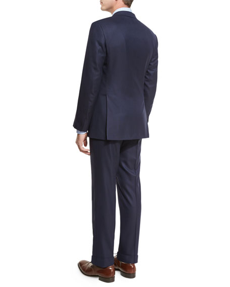 Tonal-Stripe Super 160s Wool Two-Piece Suit, Navy
