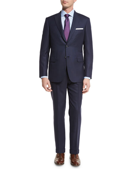 Brioni Tonal-Stripe Super 160s Wool Two-Piece Suit, Navy