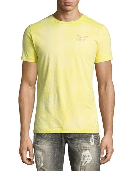 Tie-Dye Logo-Print T-Shirt, Lime