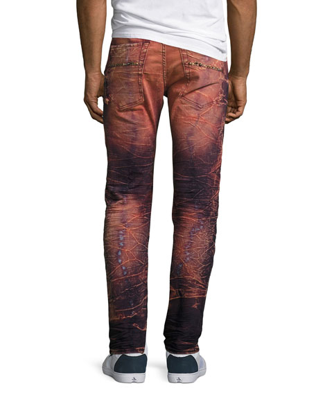Cargo Skinny Biker Jeans, Rose