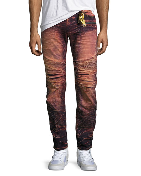 Robin's Jeans Cargo Skinny Biker Jeans, Rose