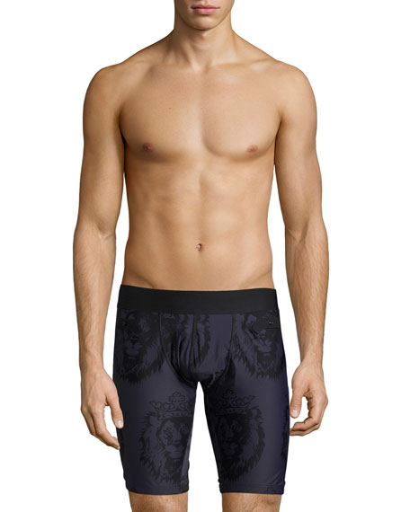 Frigo Limited Edition Crown Lion-Print Boxer Brief, Navy