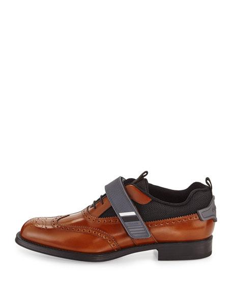 Runway Hybrid Brogue Sneaker, Brown