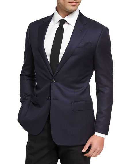 Giorgio Armani Soft Basic Wool Two-Button Sport Coat,