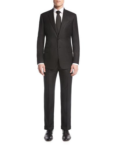 Soft Basic Two-Piece Suit, Black