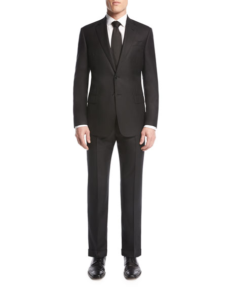 Soft Basic Two-Piece Suit, Black