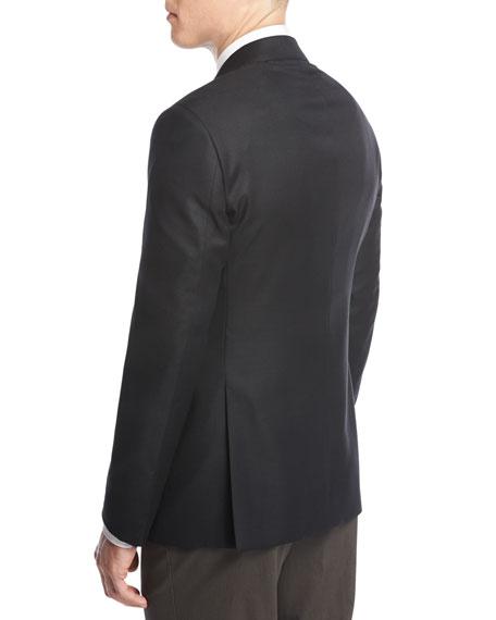Soft Basic Two-Button Sport Coat, Black
