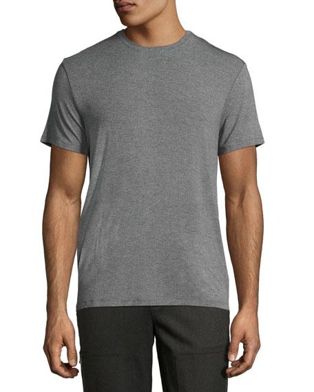 Printed Short-Sleeve Shirt, Blue