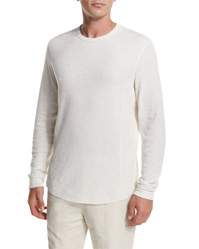 Raw-Edge Crewneck Sweatshirt