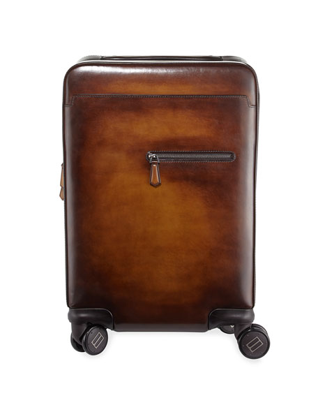 Berluti Formula 1004 Leather Trolley Suitcase