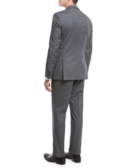 Basic Slim-Fit Two-Piece Suit, Gray