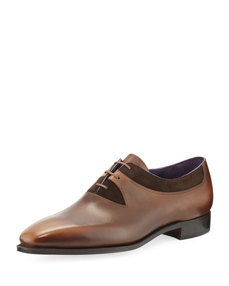 Corthay Duke Leather Cutout Derby Shoe