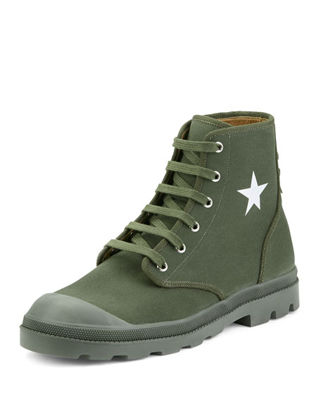 Givenchy Olympus Canvas Combat Boot