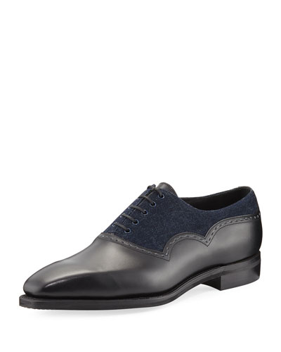 Wilfrid Denim & Leather Lace-Up Shoe