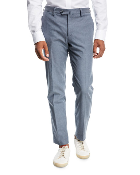 Loro Piana Slim Cotton Flannel Pants and Matching