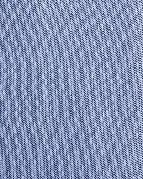 Textured Twill Dress Shirt, Slate Blue