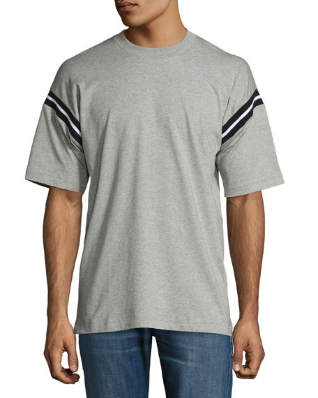 Rag & Bone Arden Varsity Stripe-Sleeve T-Shirt, Light