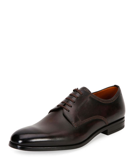 Bally Latour Classic Leather Derby Shoe, Brown