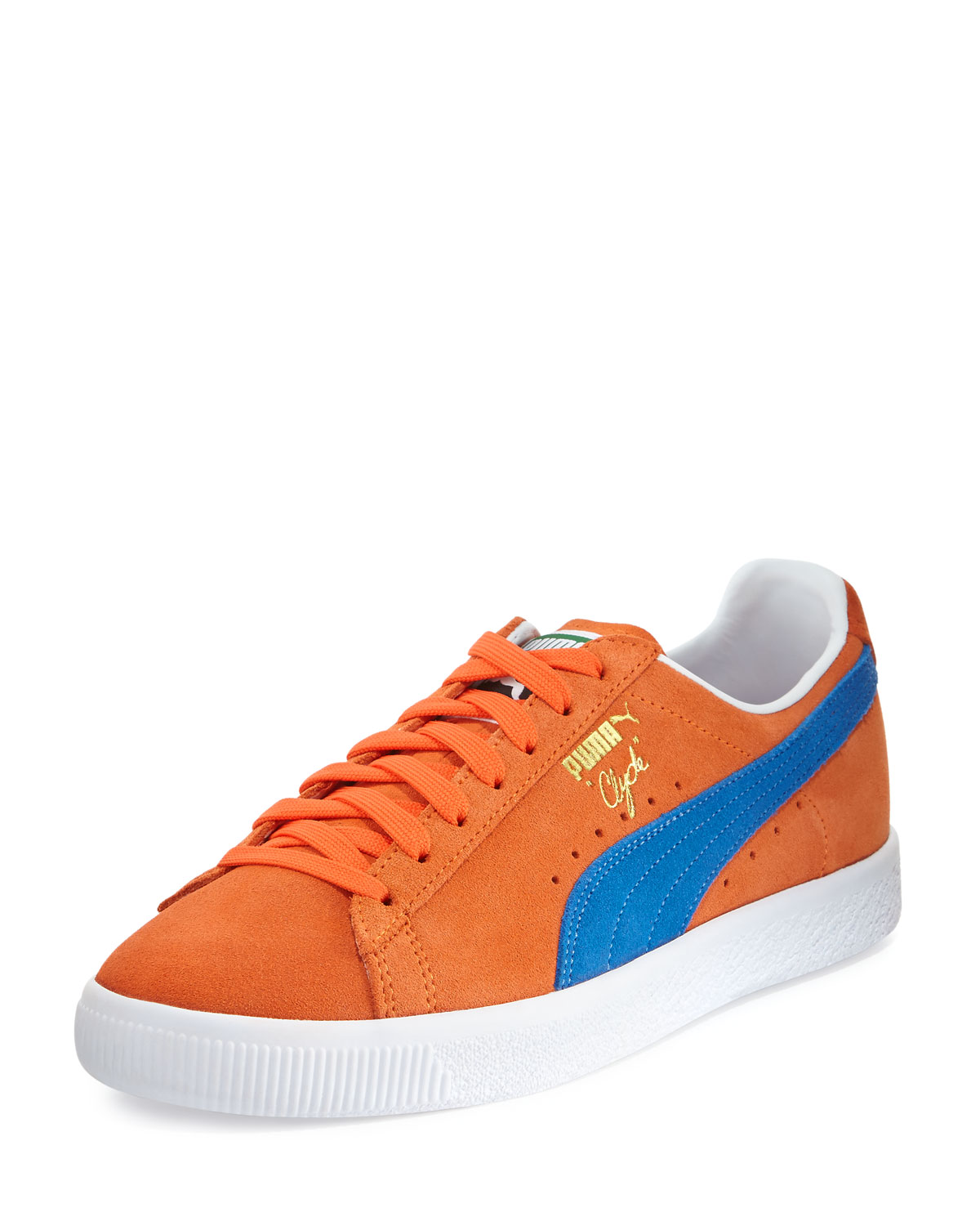 new styles e2922 e043b Clyde Suede Low-Top Sneaker, Orange/Blue