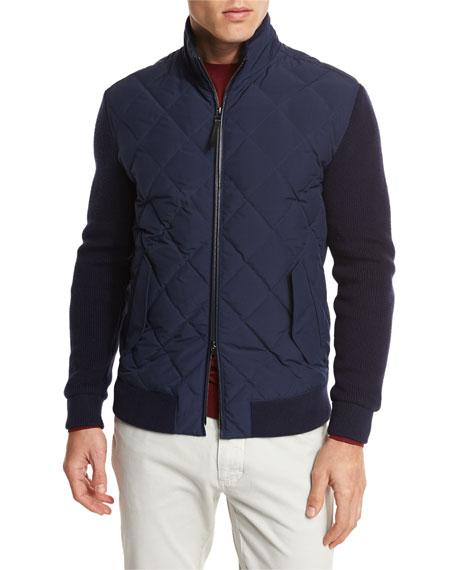 Ermenegildo Zegna Quilted Full-Zip Jacket