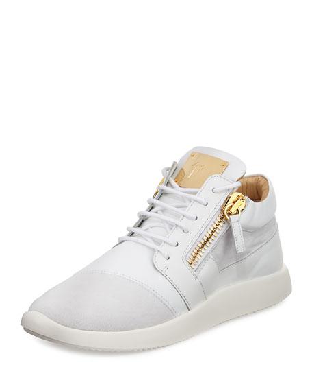 Giuseppe Zanotti Men's Leather & Suede Trainer Sneaker