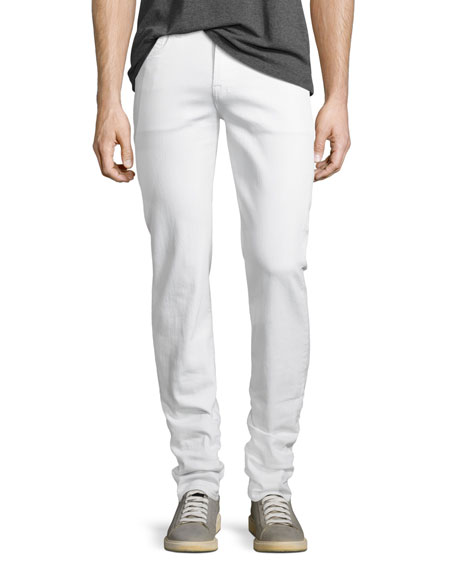 7 For All Mankind Slimmy Luxe Performance Slim Straight Jeans In True White
