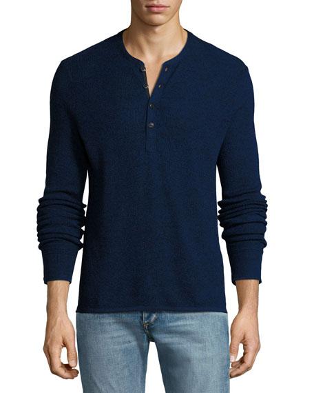 Rag & Bone Giles Merino Wool-Blend Henley Sweater,