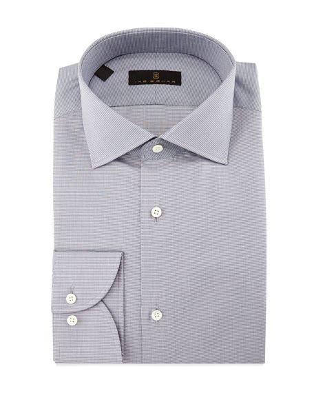 Ike Behar Gold Label Milano Mini-Houndstooth Dress Shirt,