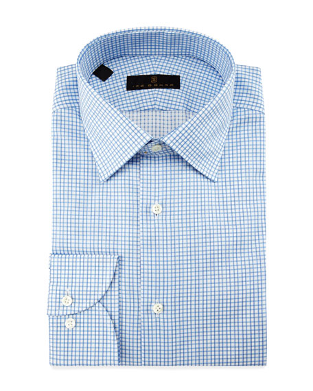 Ike Behar Check Dress Shirt, Blue