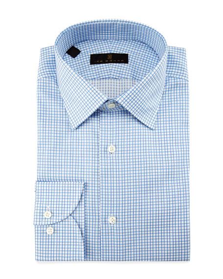Ike Behar Check Dress Shirt, Blue