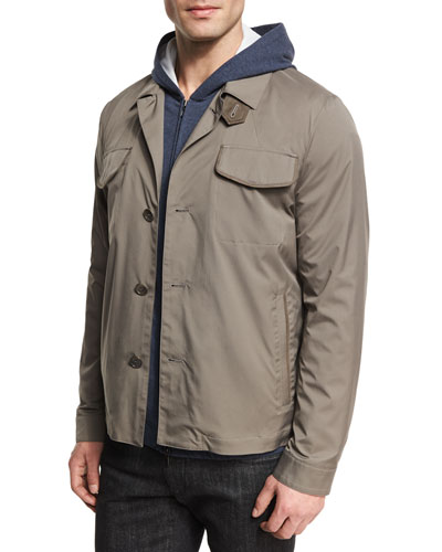 Illinois Wind Stretch Shirt Jacket, London (Gray)