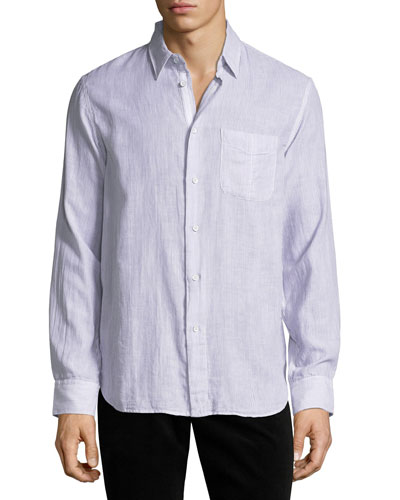 Classic-Fit Gauze Beach Shirt
