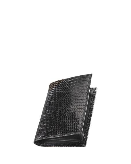 Lizard Business Card Case, Black