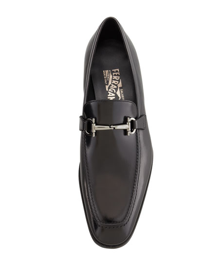 Men's Gancini-Bit Loafer Black