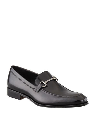 Gancini-Bit Loafer Black