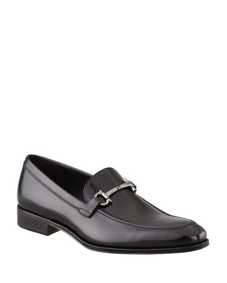 Salvatore Ferragamo Men's Gancini-Bit Loafer Black