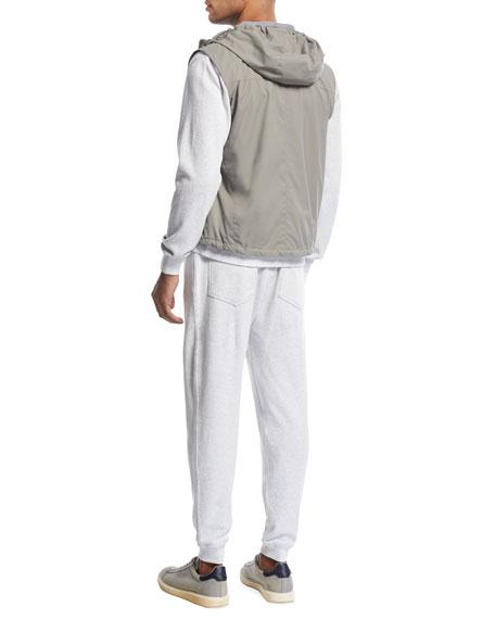K-Way Hooded Spa Vest, Asphalt
