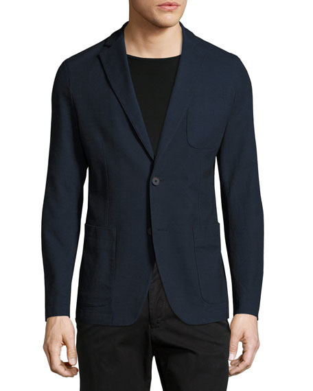 Hugo Boss Stretch Cotton Sport Coat, Navy