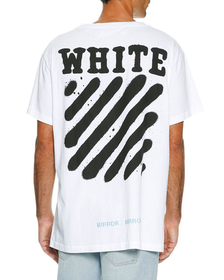 Off White Spray Paint Logo T Shirt White Black