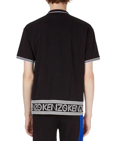 Logo-Hem Polo Shirt w/Contrast Tipping