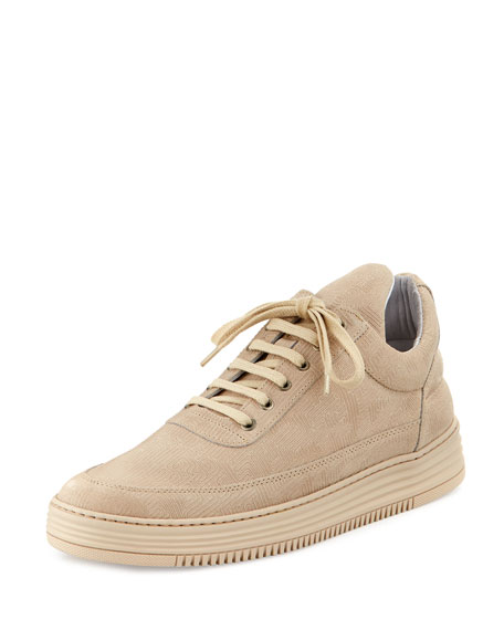 Filling Pieces Low-Top Monotone Stripe Sneakers, Beige